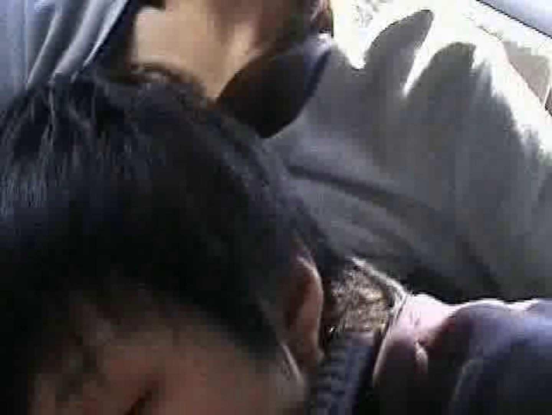 ゲイエロ動画|車の中で我慢しきれず発情するゲイカップル|車内